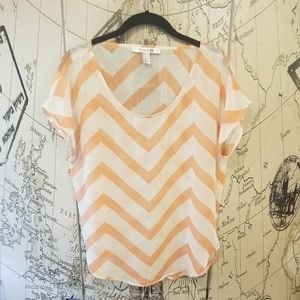 Forever 21 Sheer Short Sleeve Top - Size L